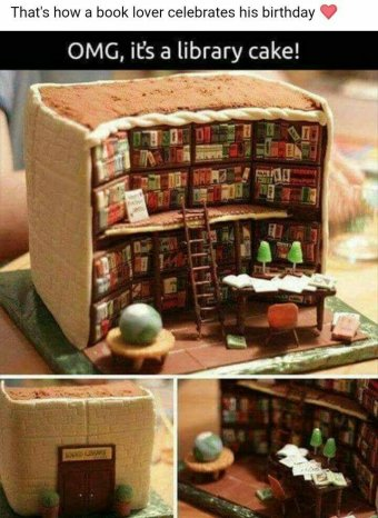 Pleasant Awesome Bookish Cakes Touch My Spine Book Reviews Funny Birthday Cards Online Alyptdamsfinfo